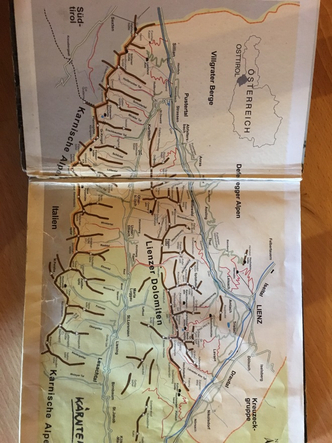 Map from Leinzer Dolomites